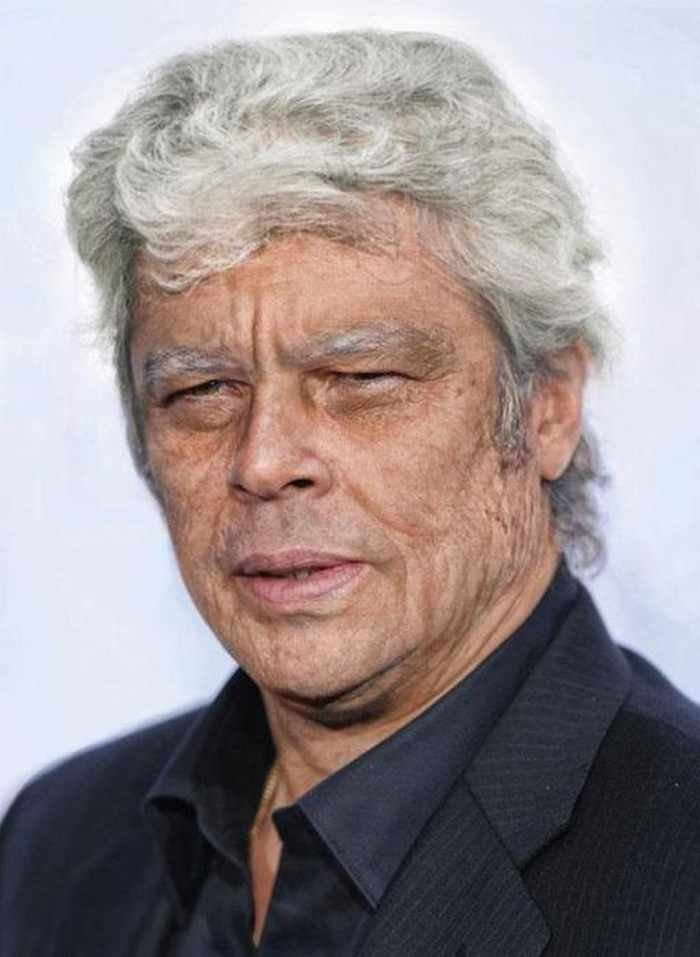 Benicio-del-Toro - How Celebrities Will Look Like When They Are Old -25 Photos