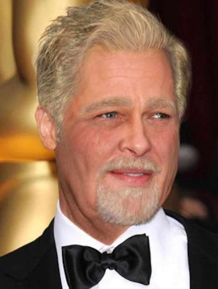 Brad-Pitt - How Celebrities Will Look Like When They Are Old -25 Photos