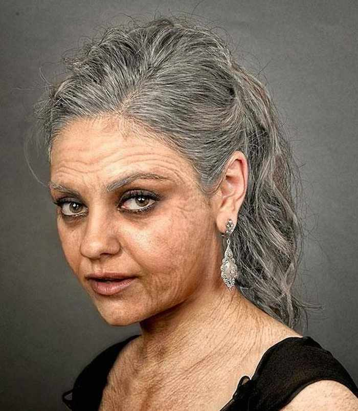 Mila-Kunis - How Celebrities Will Look Like When They Are Old -25 Photos