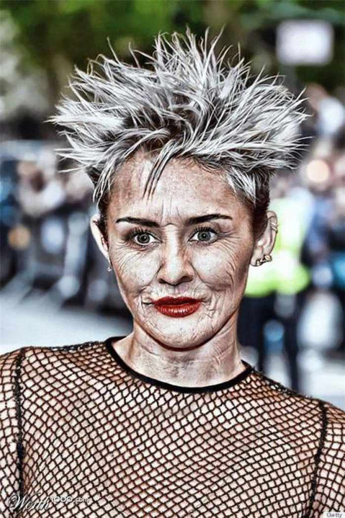 Miley-Cyrus - How Celebrities Will Look Like When They Are Old -25 Photos