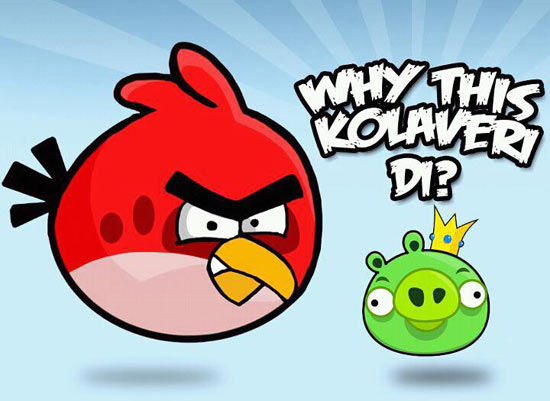 Funny Angry Birds Dont Know Why This Kolaveri Di
