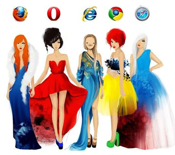 Browsers And Women Looks Alike