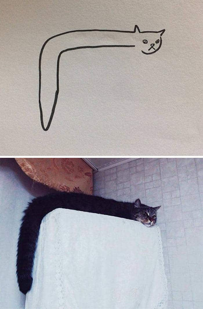 20 Epic Fail Cat Drawings That You Never Imagine -06