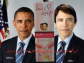Barack Obama Before and After Using Fairness Cream Fair And Lovely