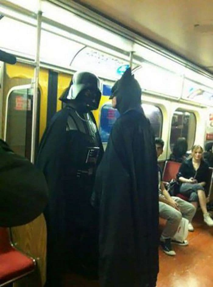 41 Strange People Ever Spotted Riding On The Subway -07