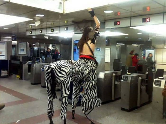 41 Strange People Ever Spotted Riding On The Subway