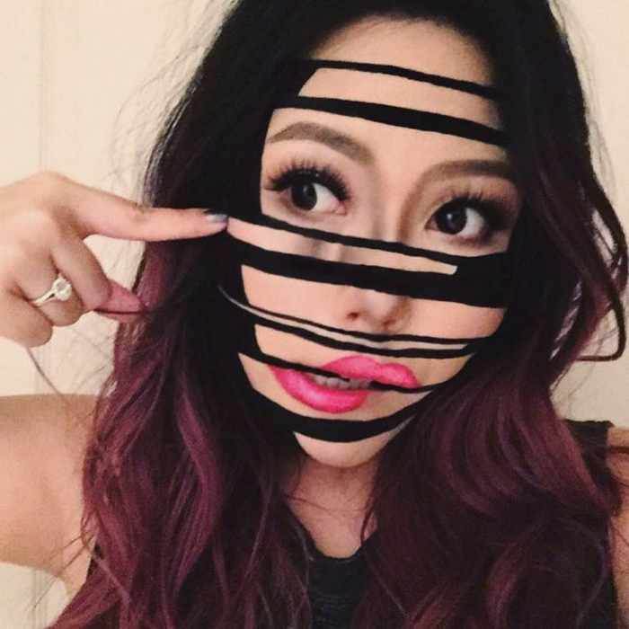 Makeup Artist Mimi Choi Optical Illusions on Herself Will Blow Your Mind - 35 Pics-07