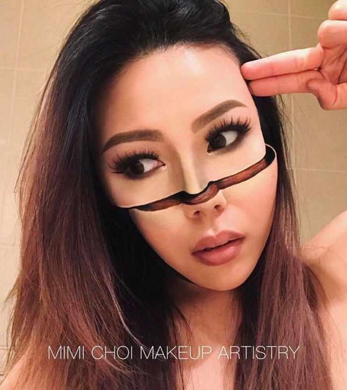 Makeup Artist Mimi Choi Optical Illusions on Herself Will Blow Your Mind - 35 Pics-08