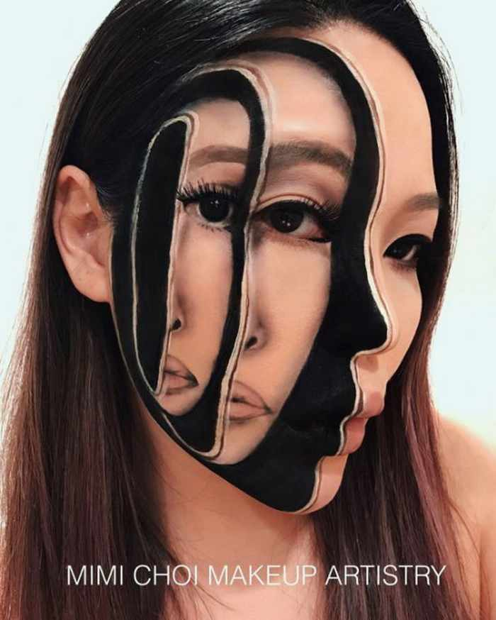 Makeup Artist Mimi Choi Optical Illusions on Herself Will Blow Your Mind - 35 Pics-09