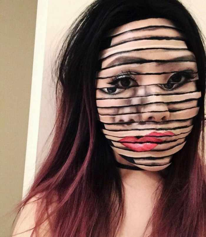Makeup Artist Mimi Choi Optical Illusions on Herself Will Blow Your Mind - 35 Pics-12