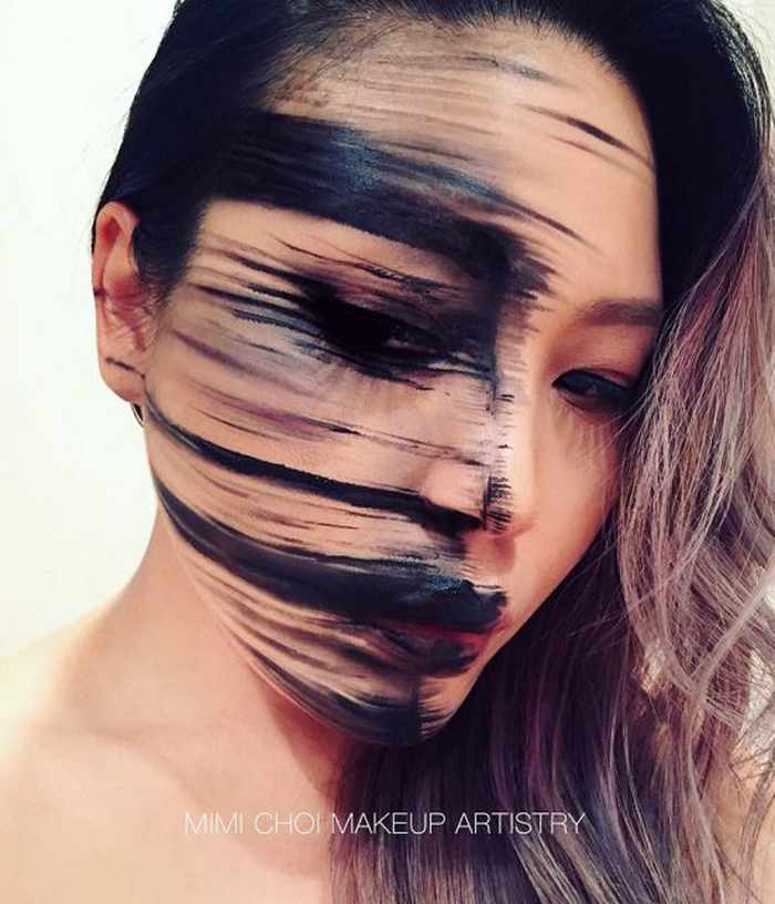 Makeup Artist Mimi Choi Optical Illusions on Herself Will Blow Your Mind - 35 Pics-13
