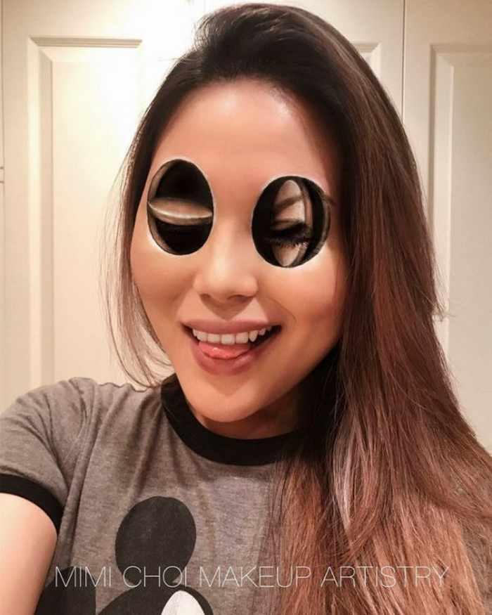 Makeup Artist Mimi Choi Optical Illusions on Herself Will Blow Your Mind - 35 Pics-14