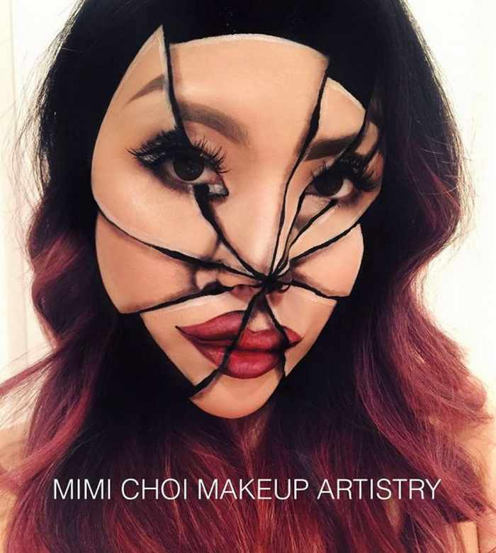 Makeup Artist Mimi Choi Optical Illusions on Herself Will Blow Your Mind - 35 Pics-16