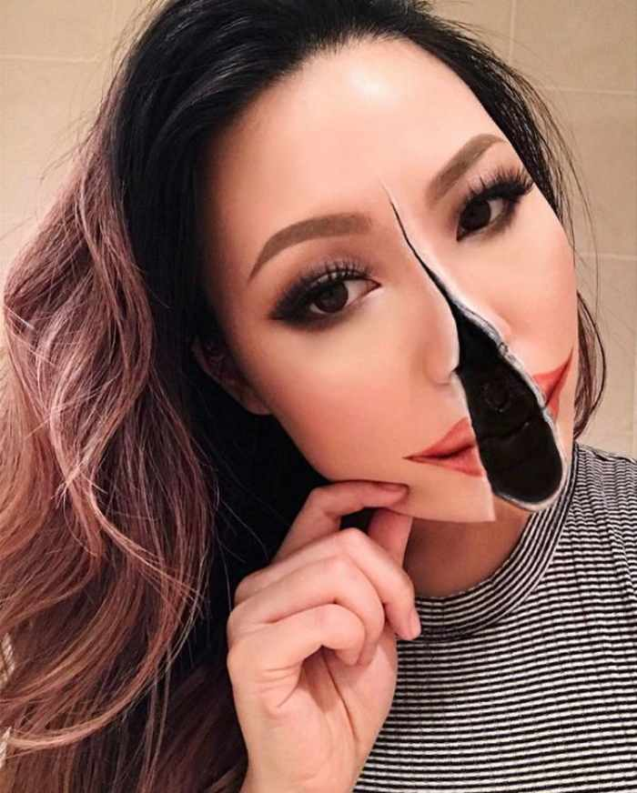 Makeup Artist Mimi Choi Optical Illusions on Herself Will Blow Your Mind - 35 Pics-27