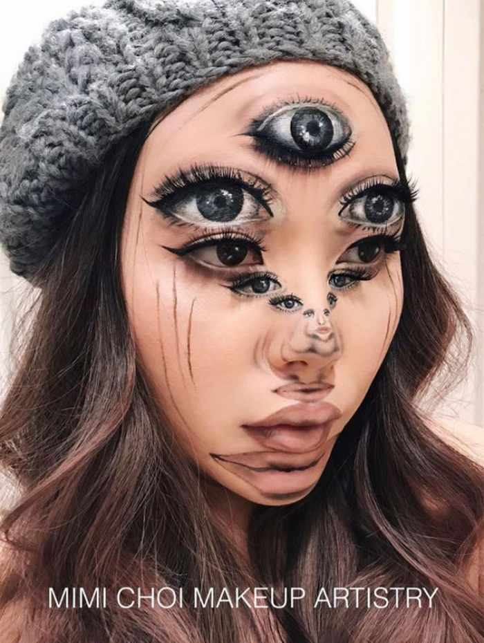 Makeup Artist Mimi Choi Optical Illusions on Herself Will Blow Your Mind - 35 Pics-31