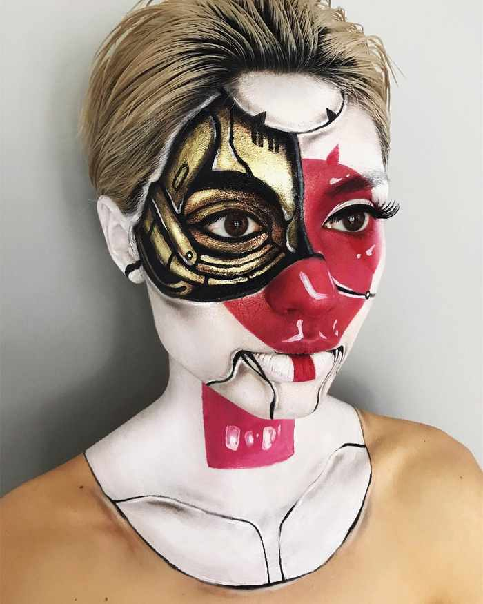 Makeup Artist Mimi Choi Optical Illusions on Herself Will Blow Your Mind - 35 Pics-33